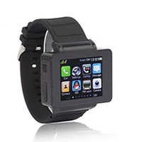 """New 2014 Fashion Unlocked Quad Core Watch Mobile phone/1.7""""Touch Screen SIM Card Mobile Phones/White Black Cell phones"""