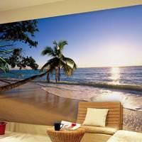 Large mural modern minimalist living room sofa bedroom TV background wallpaper 3d wallpaper natural scenery