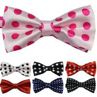 10pcs lot  New Fashion Novelty Children's Adjustable Dot Pattern Bowtie Performance  Page Boy Flower Girl Dress Bow Tie