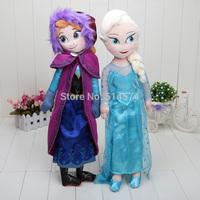 2014 Frozen 1pcs Doll Frozen Plush Toys 2014 New 50cm Princess Elsa Anna Plush Doll Brinquedos Kids Dolls