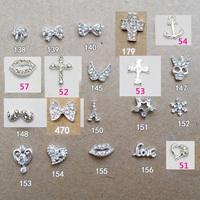 Alloy 3d nail art rhinestone skull bow charm mustache jewelry , flat back strass phone diy decoration accessories, 10pcs/lot