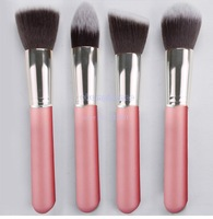 8 pcs Soft Synthetic Hair Make Up Tools Kit Cosmetics Beauty Makeup Brush Sets Pink Dropshipping #6 CB024305