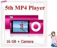 By DHL free shiing New 16GB 5th Gen MP4 Player 2.2inch screen Video Radio FM Christmas + HD Camera digital Free shipping 30sets