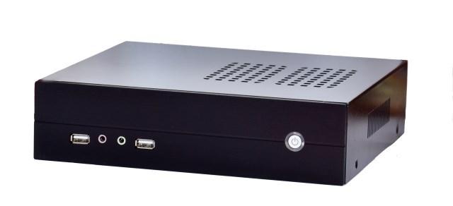 Pitfall mini-itx motherboard small computer case ion e350 htpc mini car pc aluminum alloy WITH POWER(China (Mainland))