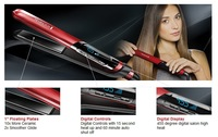 2014 NEW Red Remington S9600 Tstudio Silk Ceramic Flat Iron 1 inch Straightener Iron Up 455F Hair Straightener Universal Voltage