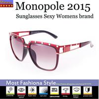 K221 Market monopoly sunglasses women brand designer 2014 luxury ,US F.D.A UVB CE Polycarbonate lens sunglasses women vintage