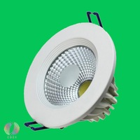 Free Shipping 7W COB LED Downlight Equal To 75W Incandescent Bridgelux Chip Warranty 3 Years 7W COB LED Downlight Bulb