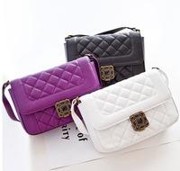 2014 New Designer Famous Brands Bags women plaid handbag High quality PU genuine leather messenger bags Channelled shoulder bag