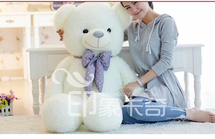 Stuffed animal 100cm white lovely Teddy bear plush toy bear doll girlfriend's gift w2094(China (Mainland))