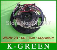 hot sales WS2812B dream color flexible strip 5050RGB LED strip light DC5V 144LEDs/m 144Pixels/m Non-waterproof free shipping
