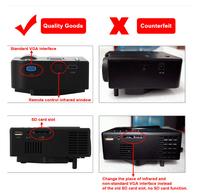 led projektor GM40 MINI projector projector full hd mini video projector 1080p proiettore suporte AV HDMI VGA USB