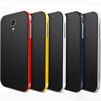 Top Quality Spigen SGP Case For Samsung Galaxy S4 SIV I9500 Neo Hybrid Bumblebee Frame+ Cover Portable Back Phone Shell RCD04100