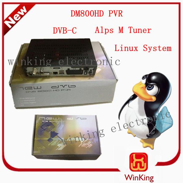 Freeshipping DHL DM800HD PVR DM 800 HD PVR dvb-c set up box satellite receiver DVB-C Linux System Japan Alps M Tuner(China (Mainland))