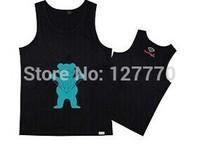 2014 UNKUT Diamond men Vest Diamond supply co King's letter men's clothing fashion 100% cotton dolphin Vest