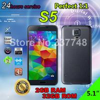 Waterproof 2GB RAM 32GB ROM S5 phone 1:1 Heart Rate Sensor 16MP GT I9600 Mobile phone MTK6592 Octa Core Android 4.4 1920*1080