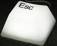Fashion Touch CTRL ESC SHIFT LED Keyboard Keypress Desk Lamp Night Light White