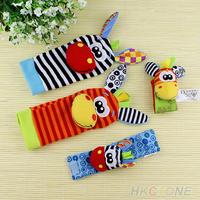 1 pair Lovely Infant Baby Kids Foot Socks Rattles finders Glove Toys Developmental 035L