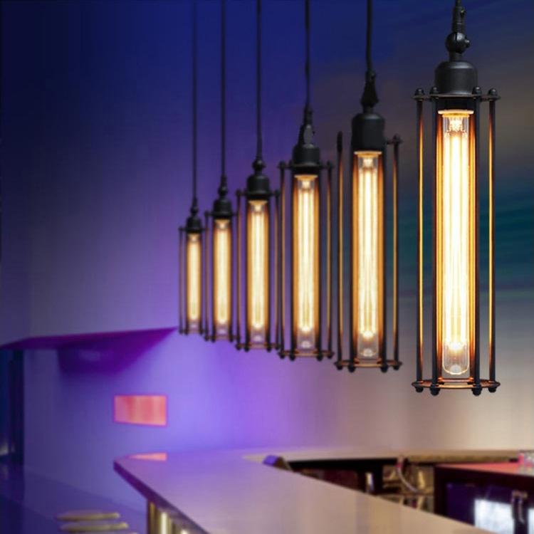6PCS/Lot Retro Edison Pendant lamps Restaurant aisle Bar punk vertical Alcatraz chandeliers Lighting,YSL1826-6 Free shipping(China (Mainland))