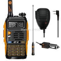 radio station Baofeng GT-3 Mark II,compared with yaesu, + Microphone Speaker Dual Band V/U Ham two way Radio
