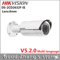 Fixed focus  Hikvision ip camera 3mp Bullet poe  DS-2CD2632F-IS  Built-in 1-way audio  lens: 6mm
