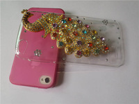 Peacock Rhinestone Case For Gionee Elife E3 Fly IQ4410  ,New Arrival Crystal Diamond Hard Back Skin Mobile phone Case