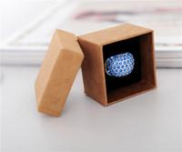 Packaging Box Bracelet Necklace Ring Jewelry Box Zakka Kraft Paper box Fashion Finger Ring Jewelry box 5*5*3.8cm 50pcs/lot