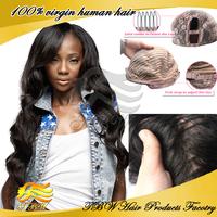Top Beauty queen hair body wavy left side part virgin brazilian U part wig unprocessed human hair u part wigs for black women