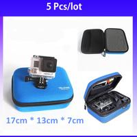 5PCS TELESIN Digital  EVA Shockproof Portable Small Camera Ride  Case for Gopro hero2 3+ 3