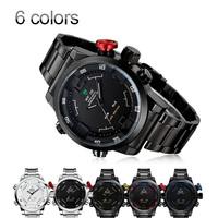 WEIDE Men Quartz Watches Men Luxury Brand steel Watch Sport Running Men Wristwatches relogio masculino led Digit watch Relojes