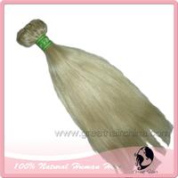 "FREE SHIPPING 14""-26"" European Virgin 613# Color Hair Weaves, Straight Blonde Natural Human Hair Extension 1Pcs/ Lot"