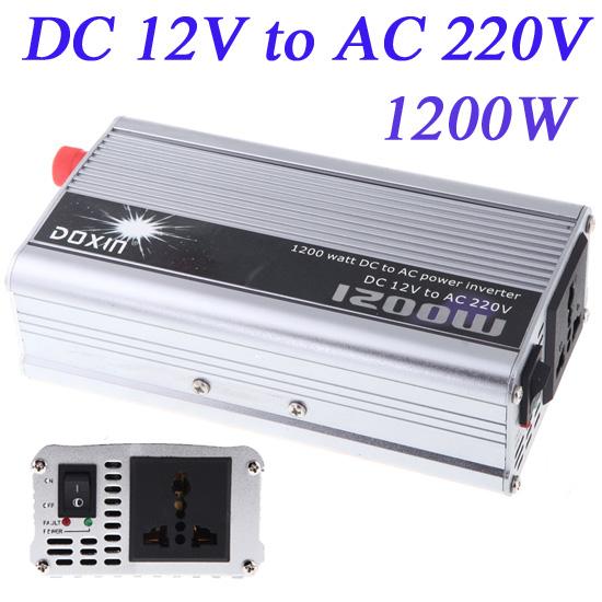 1200W WATT DC 12V to AC 220V Portable Car Power Inverter Adapater Charger Converter Transformer(China (Mainland))