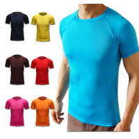 new Top A ++ Men  Running T shirts Compression Tights Base Layer Fitness Short sleeve Underwear Lycra Breathable Coolmax  D0030