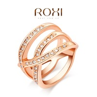 ROXI classic rings,rose gold plated top quality make with genuine Austrian crystals, fashion jewelry,2010014430
