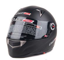 Free Shipping 1pc LS2 FF396 Motorcycle Helmet Dual Lens Fiberglass Motorcycle Security Full Face Helmet Running Helmets Men(China (Mainland))