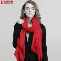 Pure Wool scarf Soft Smooth Natural Chemical Resist SWW707 Twill Plain wool scarf Ladies Fashion scarf wholesale wool shawl