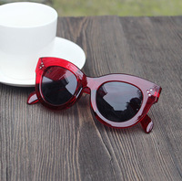 2014 new arrival woman sun glasses star style female sunglasses cat eyes shaped glass 3025 sunglass not polarized