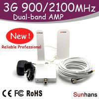 Sunhans original signal booster 900-2100MHz dual band 3G repeater Free Shipping (SH-G900W2100-D2)
