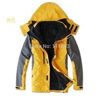 No. 1 sale!+2014 Brand new men outdoor coat climbing clothing 3 in 1 sport coats Waterproof Winter men's ski jacket
