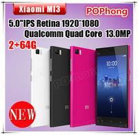 Xiaomi M3 Mi3 WCDMA Android Phone 13MP Qualcomm 64GB ROM 5 inch 1920*1080 Quad Core 2GB RAM