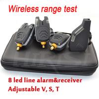 Fish alarms electronic fishing bite alarm and receiver fishing indicator wireless bite alarm set 1+4 for carp fishing