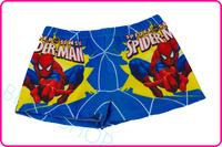 Top Children swimwear 2014 Brand new kid trunks spiderman character cartoon spandex lacing swimsuits swim circo freeshipping