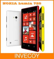 "Lumia 720 Unlocked Original NOKIA Lumia 720 Cell phone Windows Phone 8 Dual-core 6.7MP 8GB 4.3"" IPS 3G one year warranty"