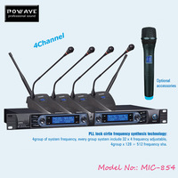 POWAVE professional wireless microphones MIC-854 UHF microphone good quality condenser microphone