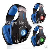 Electronic 2014 New SADES A60 Noise Isolating Stereo Gaming Headset USB plug Vibration Function 7.1 Surround