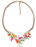 New 2014 JC fashion women crytal necklace & pendant chunky choker design pendant Necklace statement jewelry women High quality