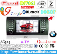 7'' 2din TFT LCD touch screen car audio with MTK3360 platform(Win CE 6.0) and GPS/BT/Radio/A-TV/3G for BMW 5series E39:1995-2006