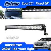 "LED Work Light 41.4"" 240W DC 10~30V Spot Flood Light Offroad Driving Lamp For SUV Truck 4WD 4x4 Boat Train Tank"