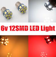 Free Shipping, 2pcs 1156 382 6V 12 SMD LED BA15S Reverse Rear Brake Tail Stop Turn Singal CAR Light Bulb white/amber/red