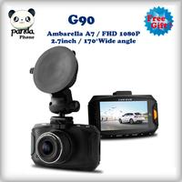 "New 2014 Camera Car DVR G90 Ambarella A7 Built In Recorder G-sensor Day1920*1080P Full HD HDMI 2.7"" LCD 170 Degree"