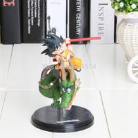 14cm 1piece Dragon Ball Z Super Saiyan Goku with Dragon Riding PVC Action Figures Collection Model Toy Doll